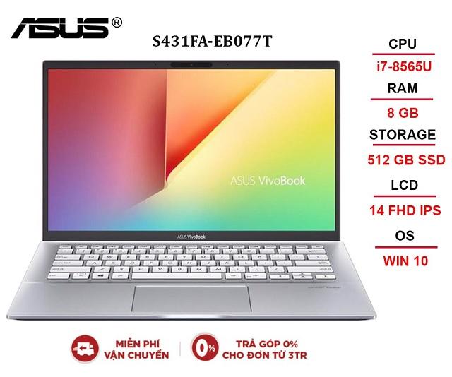 ASUS VIVOBOOK S431FA-EB077T i7-8565U