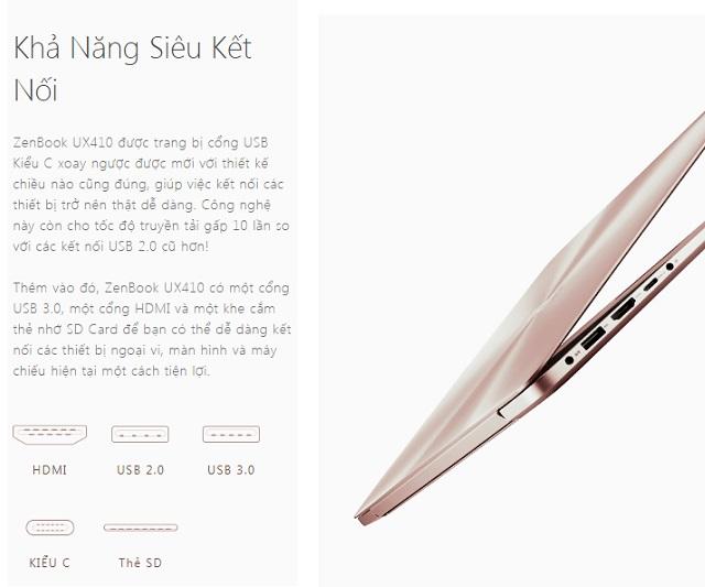 Laptop ASUS Zen UX410UF-GV116T