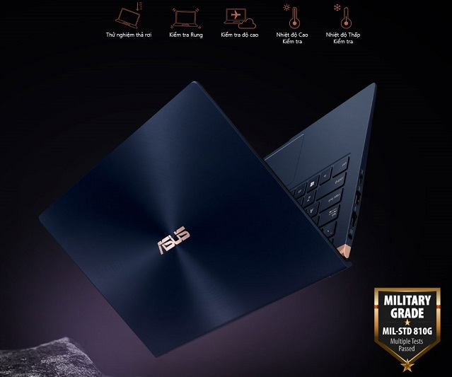 Laptop màu xanh Core i7 ASUS ZenBook 14 UX433FA-A6076T